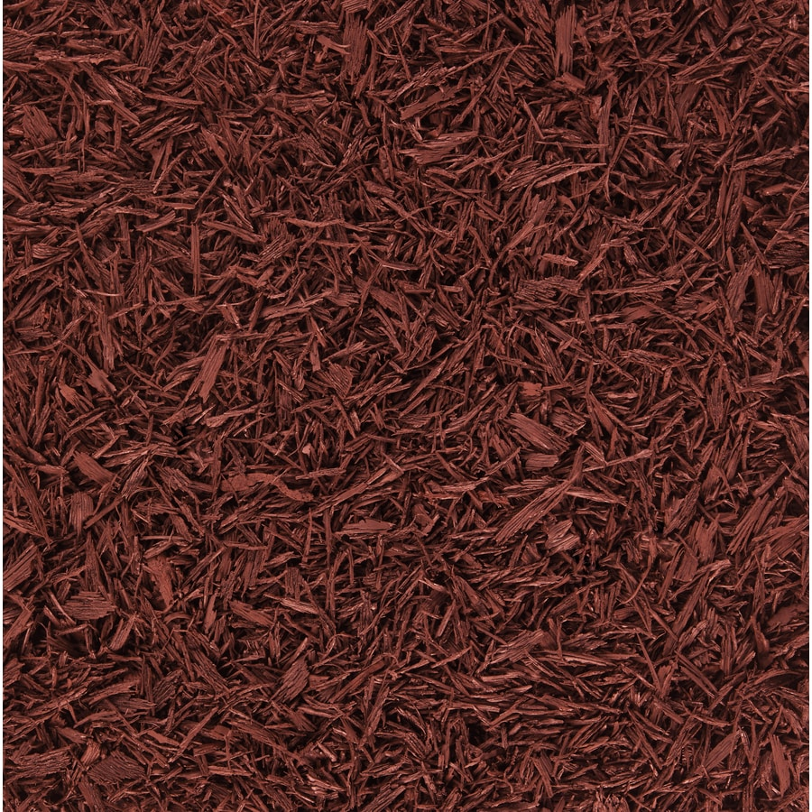 Rubberific 80-cu ft Rubber Shredded Red Bulk Mulch (Playground Certified)