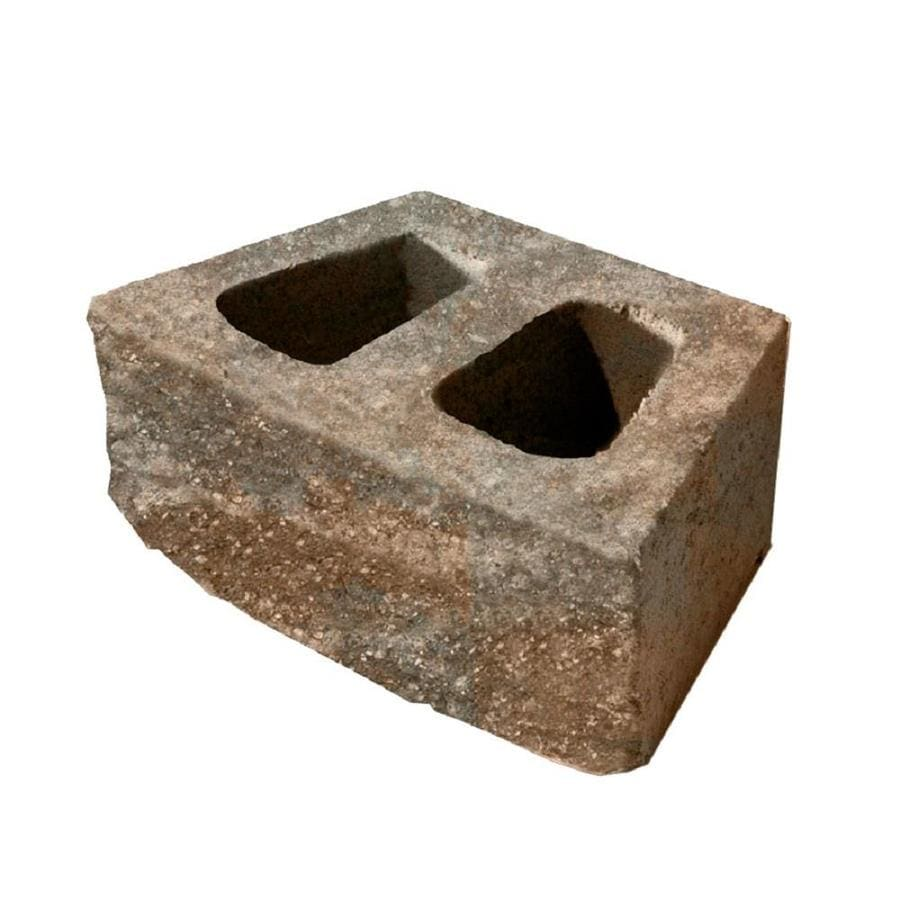 Brown and Charcoal Retaining Wall Block (Common: 6-in x 16-in; Actual: 6-in x 16-in)