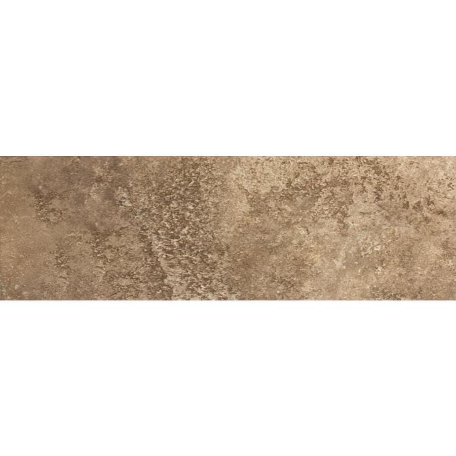 FLOORS 2000 Altamira Walnut Porcelain Bullnose Tile (Common: 3-in x 18-in; Actual: 3-in x 17.72-in)