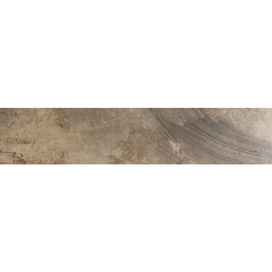 FLOORS 2000 Jungle Moka Porcelain Bullnose Tile (Common: 3-in x 18-in; Actual: 3-in x 17.72-in)