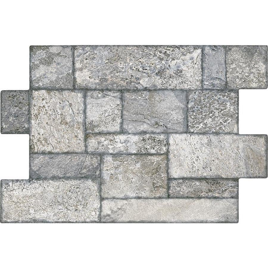 FLOORS 2000 Fiyord 6-Pack Gray Porcelain Floor Tile (Common: 16-in x 24-in; Actual: 15.76-in x 23.62-in)