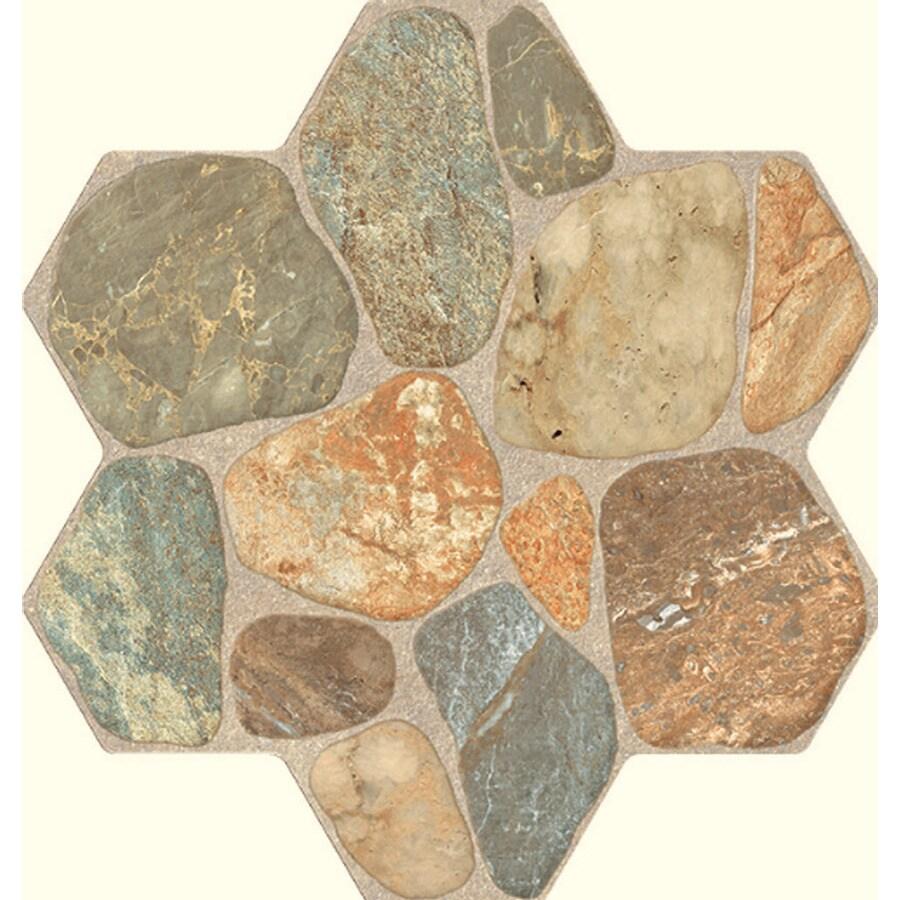 FLOORS 2000 5-Pack Teras Multi Glazed Porcelain Indoor/Outdoor Floor Tile (Common: 18-in x 18-in; Actual: 17.75-in x 17.75-in)
