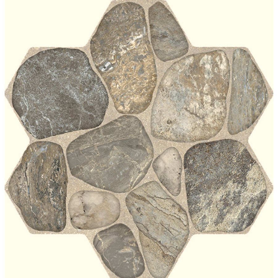 FLOORS 2000 5-Pack Teras Grey Glazed Porcelain Indoor/Outdoor Floor Tile (Common: 18-in x 18-in; Actual: 17.75-in x 17.75-in)