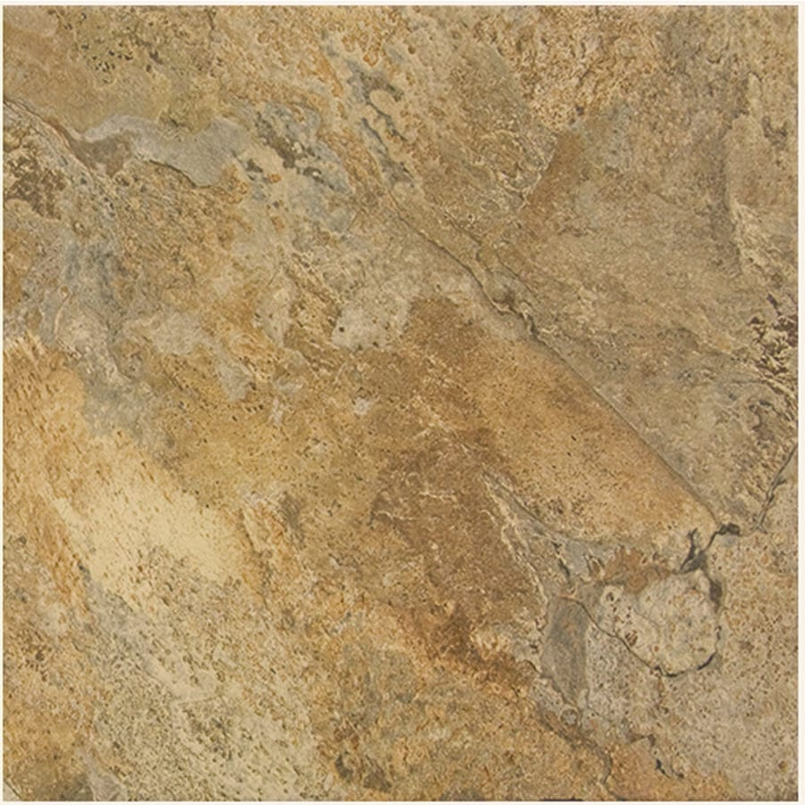 FLOORS 2000 Rajasthan 7-Pack Nute Porcelain Floor and Wall Tile (Common: 18-in x 18-in; Actual: 17.72-in x 17.72-in)