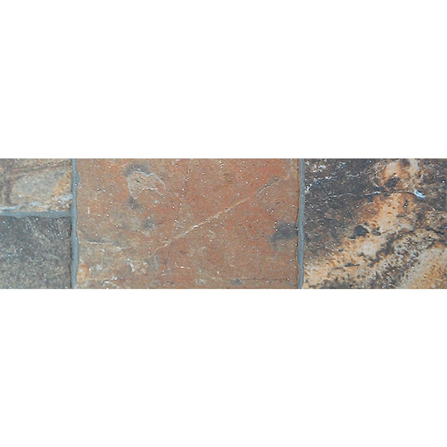 FLOORS 2000 Sunset Red Porcelain Bullnose Tile (Common: 3-in x 13-in; Actual: 3-in x 13.38-in)