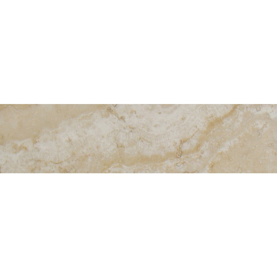 FLOORS 2000 Galapagos Tortuga Beach Porcelain Bullnose Tile (Common: 3-in x 12-in; Actual: 3-in x 12.69-in)