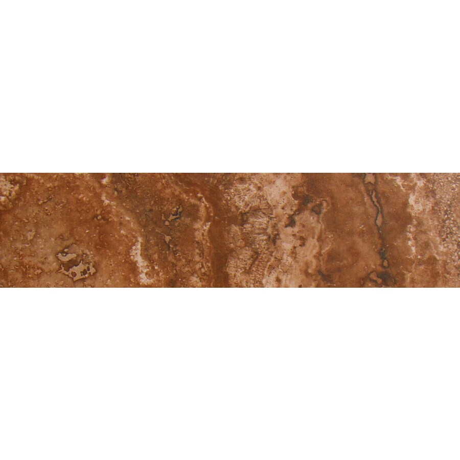 FLOORS 2000 Galapagos Darwin's Lava Porcelain Bullnose Tile (Common: 3-in x 12-in; Actual: 3-in x 12.69-in)