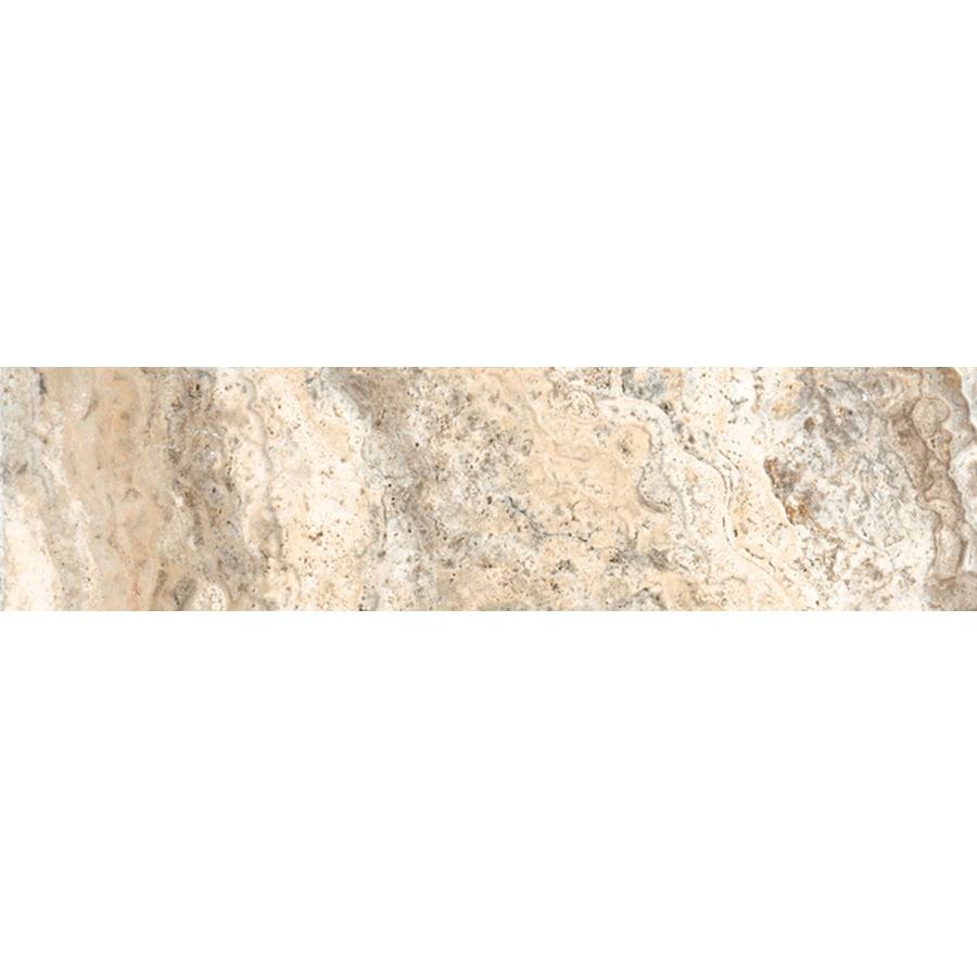 FLOORS 2000 Vitality Earth Porcelain Bullnose Tile (Common: 3-in x 18-in; Actual: 3-in x 17.91-in)