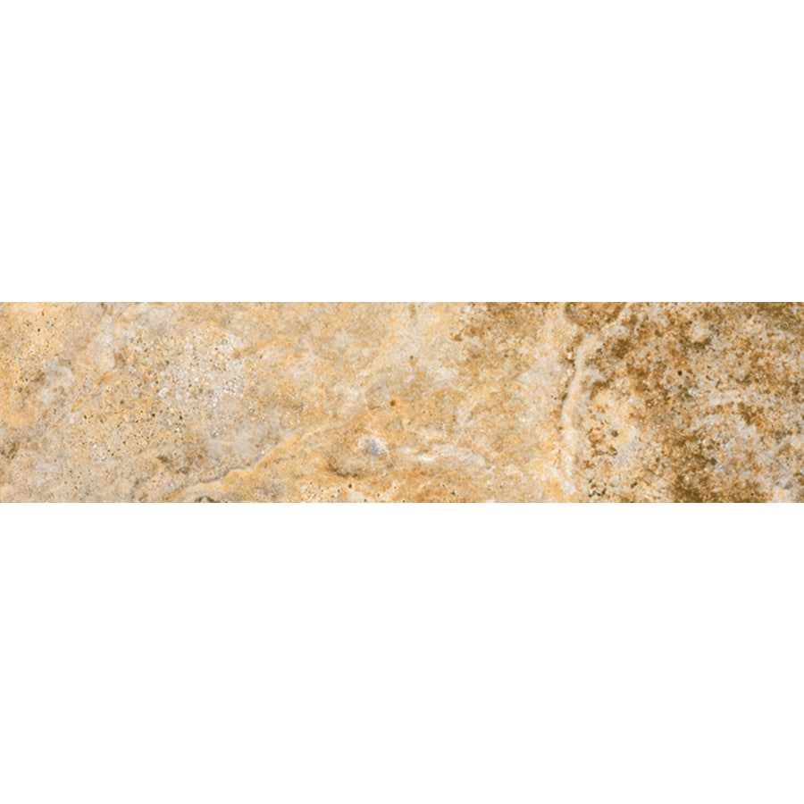 FLOORS 2000 Vitality Fire Porcelain Bullnose Tile (Common: 3-in x 12-in; Actual: 3-in x 11.92-in)