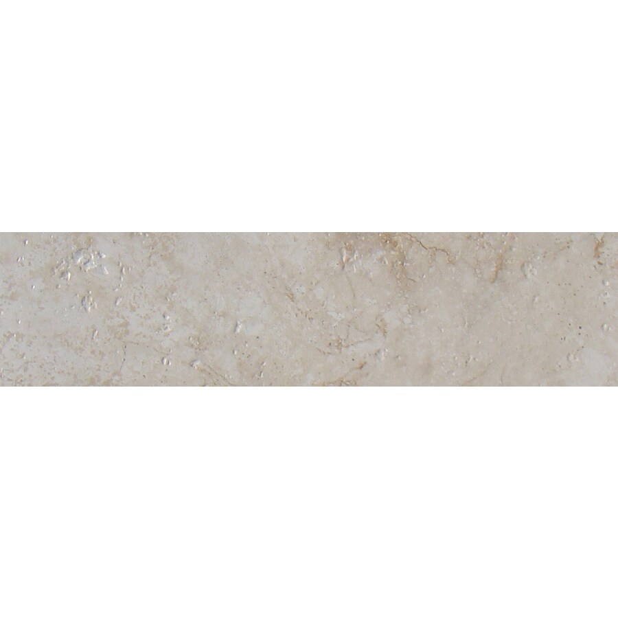 FLOORS 2000 Ekko Whipped Cream Ceramic Bullnose Tile (Common: 3-in x 18-in; Actual: 3-in x 17.89-in)