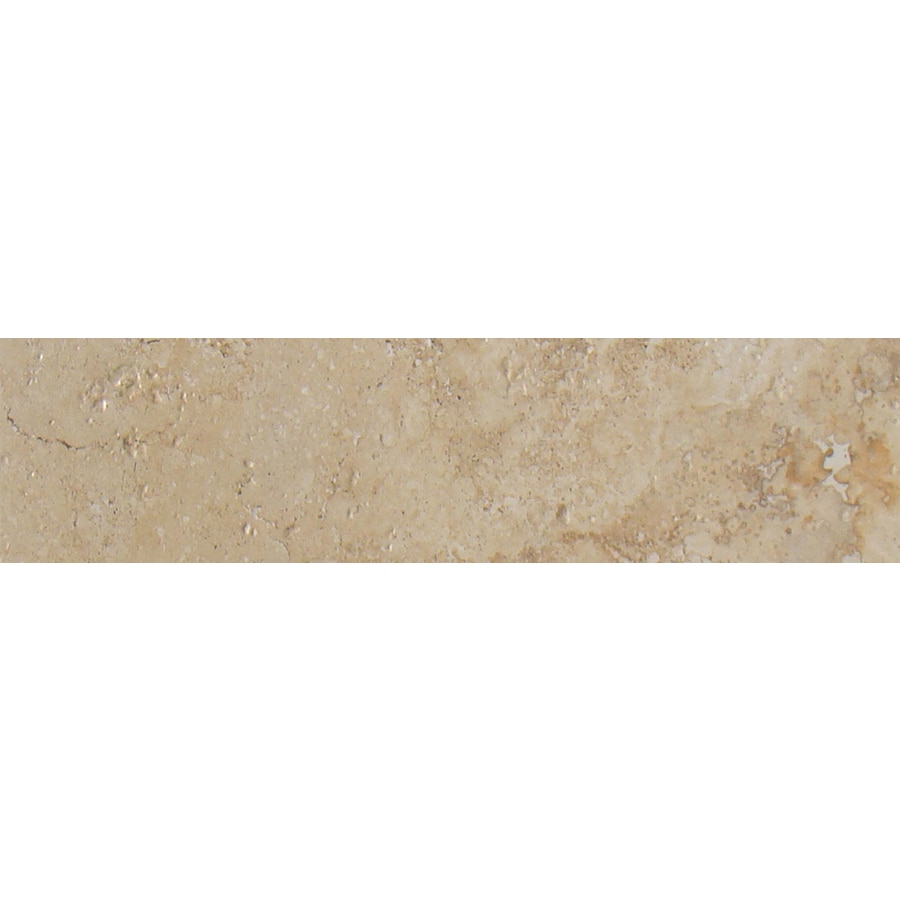 FLOORS 2000 Ekko Toasted Beige Ceramic Bullnose Tile (Common: 3-in x 18-in; Actual: 3-in x 17.89-in)