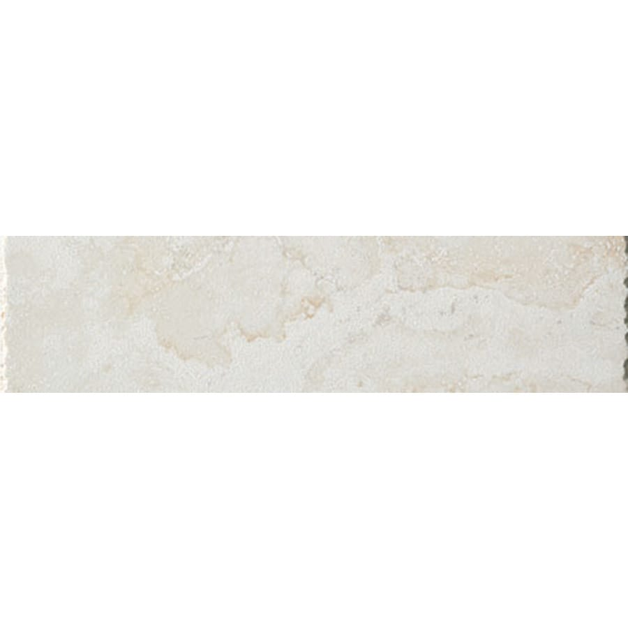FLOORS 2000 Princeps Cesare Bianco Porcelain Bullnose Tile (Common: 3-in x 13-in; Actual: 3-in x 13.11-in)
