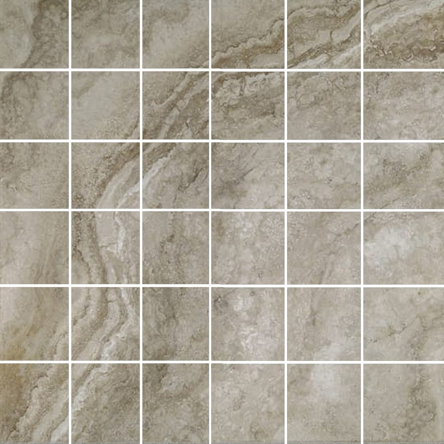 FLOORS 2000 Galapagos Mountain Mist Uniform Squares Mosaic Porcelain Floor and Wall Tile (Common: 12-in x 12-in; Actual: 12-in x 12-in)