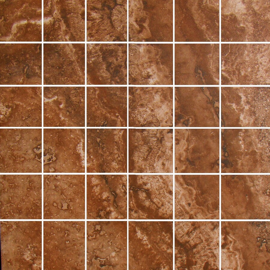FLOORS 2000 Galapagos Darwin's Lava Uniform Squares Mosaic Porcelain Floor and Wall Tile (Common: 12-in x 12-in; Actual: 12-in x 12-in)
