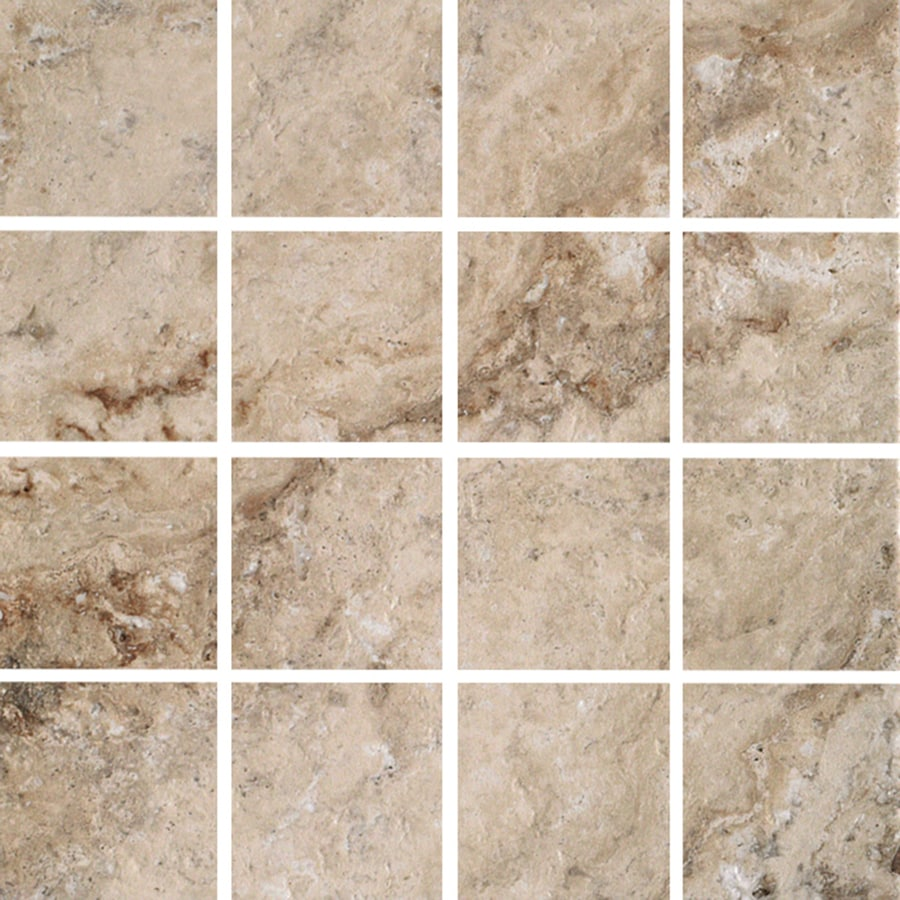 FLOORS 2000 Mansion Fine Uniform Squares Mosaic Porcelain Floor and Wall Tile (Common: 12-in x 12-in; Actual: 11.92-in x 11.92-in)