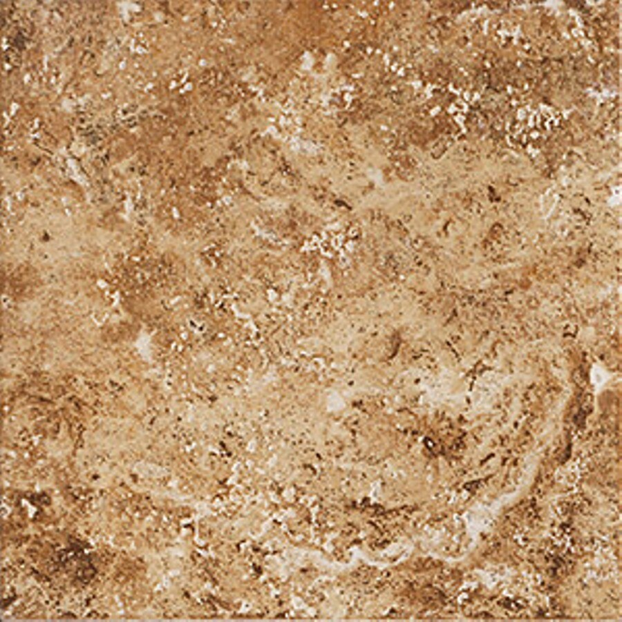 FLOORS 2000 Western Stone 13-Pack Gold Rush Porcelain Floor and Wall Tile (Common: 13-in x 13-in; Actual: 13.11-in x 13.11-in)