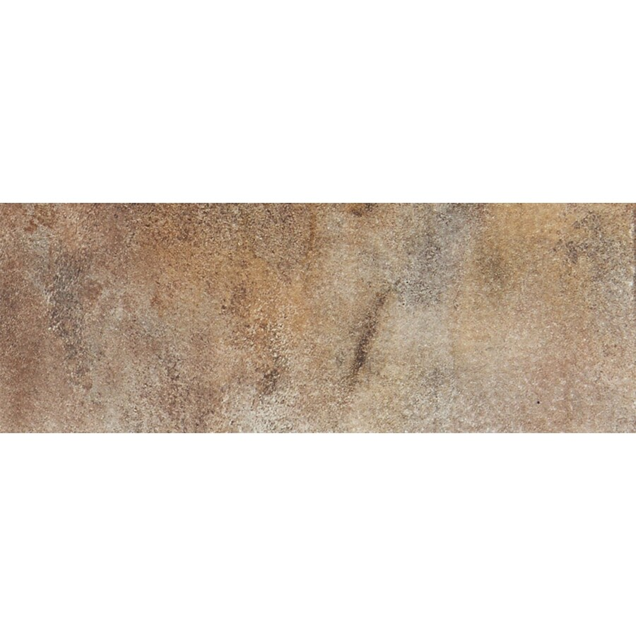 FLOORS 2000 Iron Brown Porcelain Bullnose Tile (Common: 3-in x 13-in; Actual: 3-in x 12.92-in)