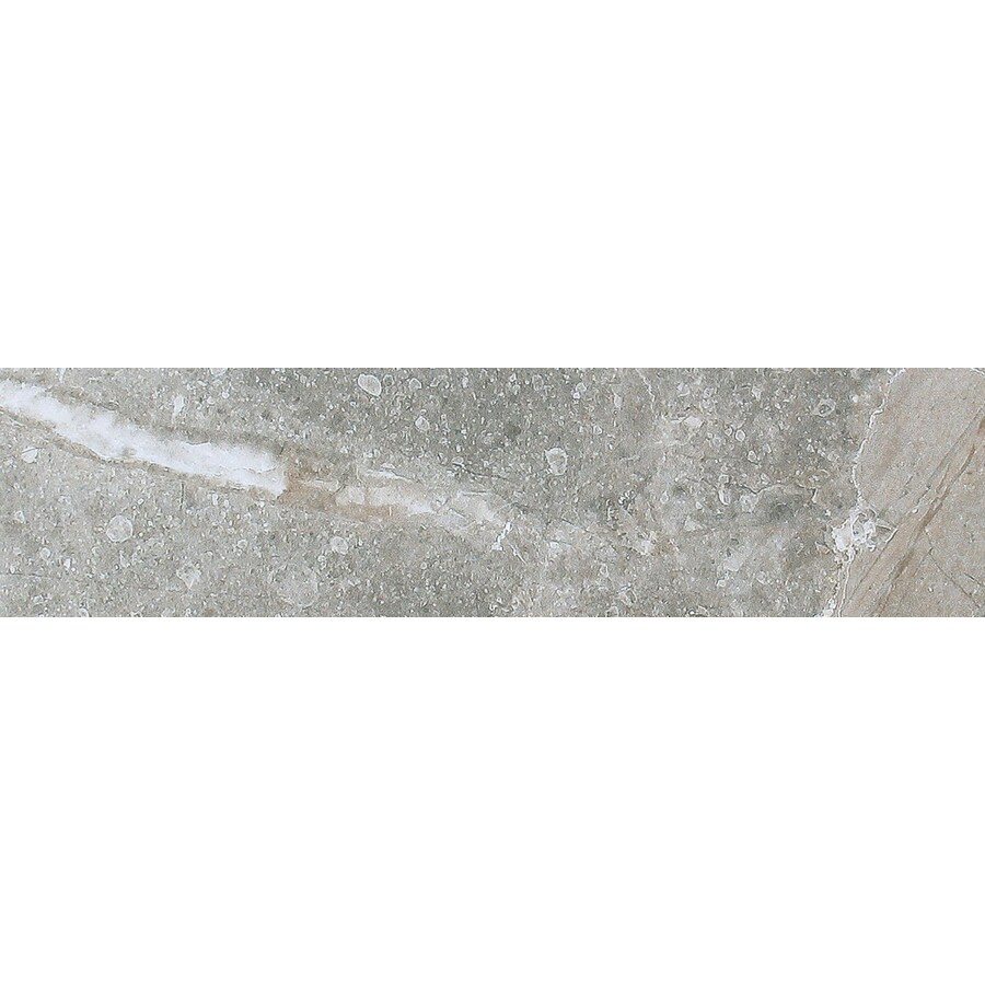 FLOORS 2000 Tirreno Gris Grey Porcelain Bullnose Tile (Common: 3-in x 18-in; Actual: 3-in x 17.72-in)