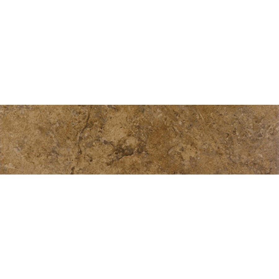 FLOORS 2000 Corfinio Sangria Porcelain Bullnose Tile (Common: 3-in x 18-in; Actual: 3-in x 17.91-in)
