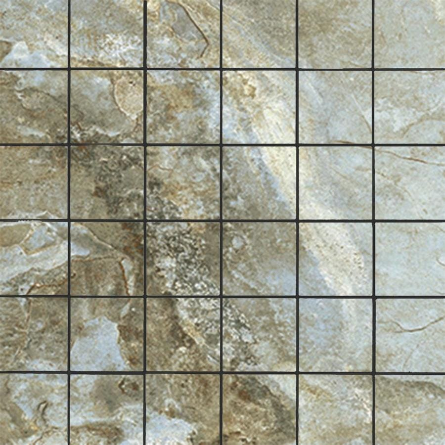 Floors 2000 Keystone Blue 12 In X 12 In Porcelain Uniform Squares Mosaic Floor And Wall Tile