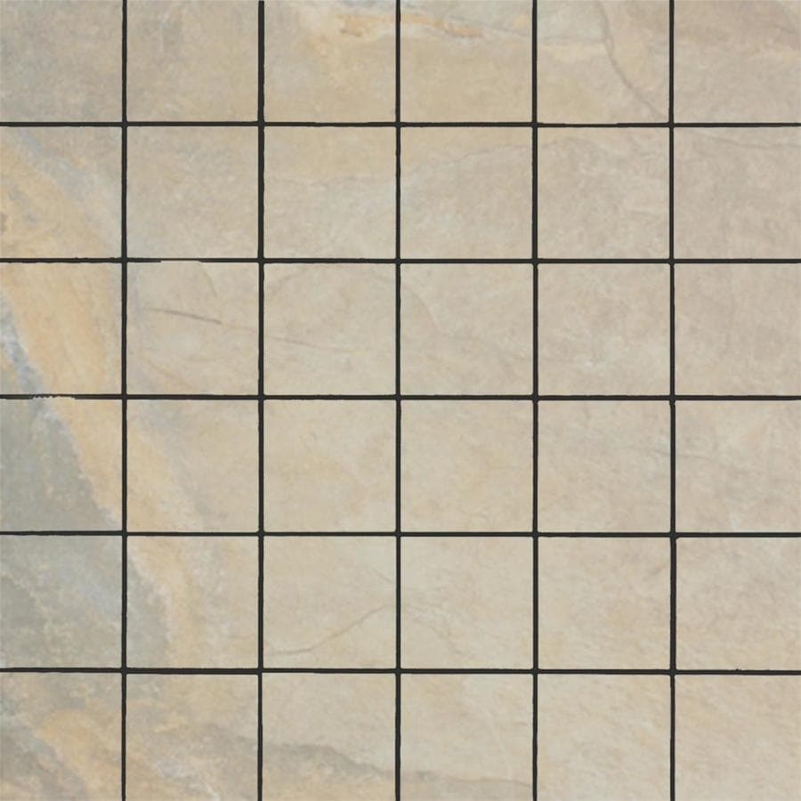 FLOORS 2000 Keystone Cream Uniform Squares Mosaic Porcelain Floor and Wall Tile (Common: 13-in x 13-in; Actual: 13-in x 13-in)