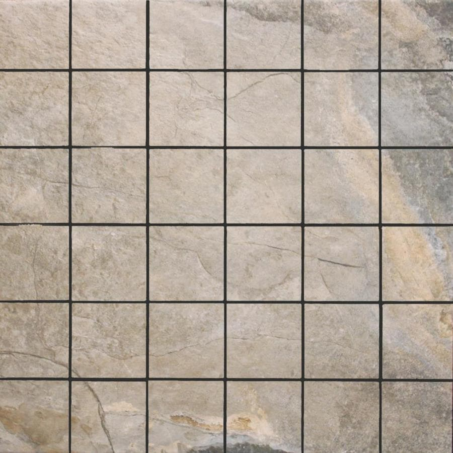 FLOORS 2000 Keystone Grey Uniform Squares Mosaic Porcelain Floor and Wall Tile (Common: 13-in x 13-in; Actual: 13-in x 13-in)