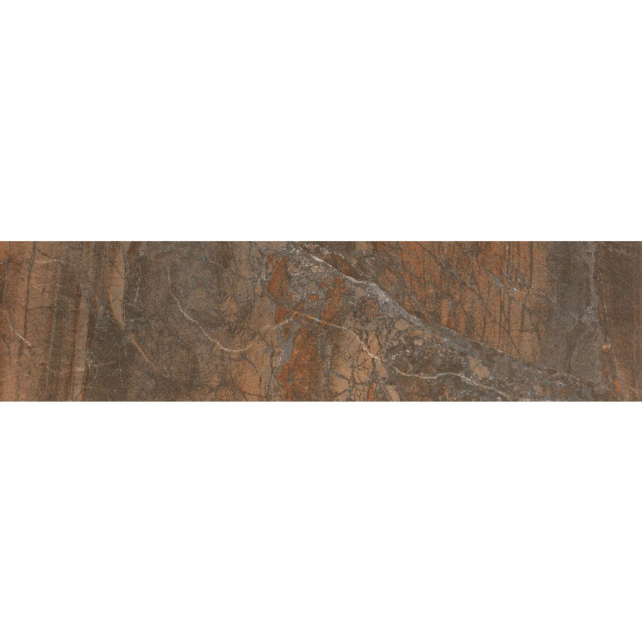 FLOORS 2000 Cortina Copper Porcelain Bullnose Tile (Common: 3-in x 12-in; Actual: 3-in x 11.87-in)
