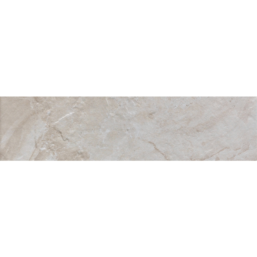 FLOORS 2000 Cortina Ivory Porcelain Bullnose Tile (Common: 3-in x 12-in; Actual: 3-in x 11.87-in)