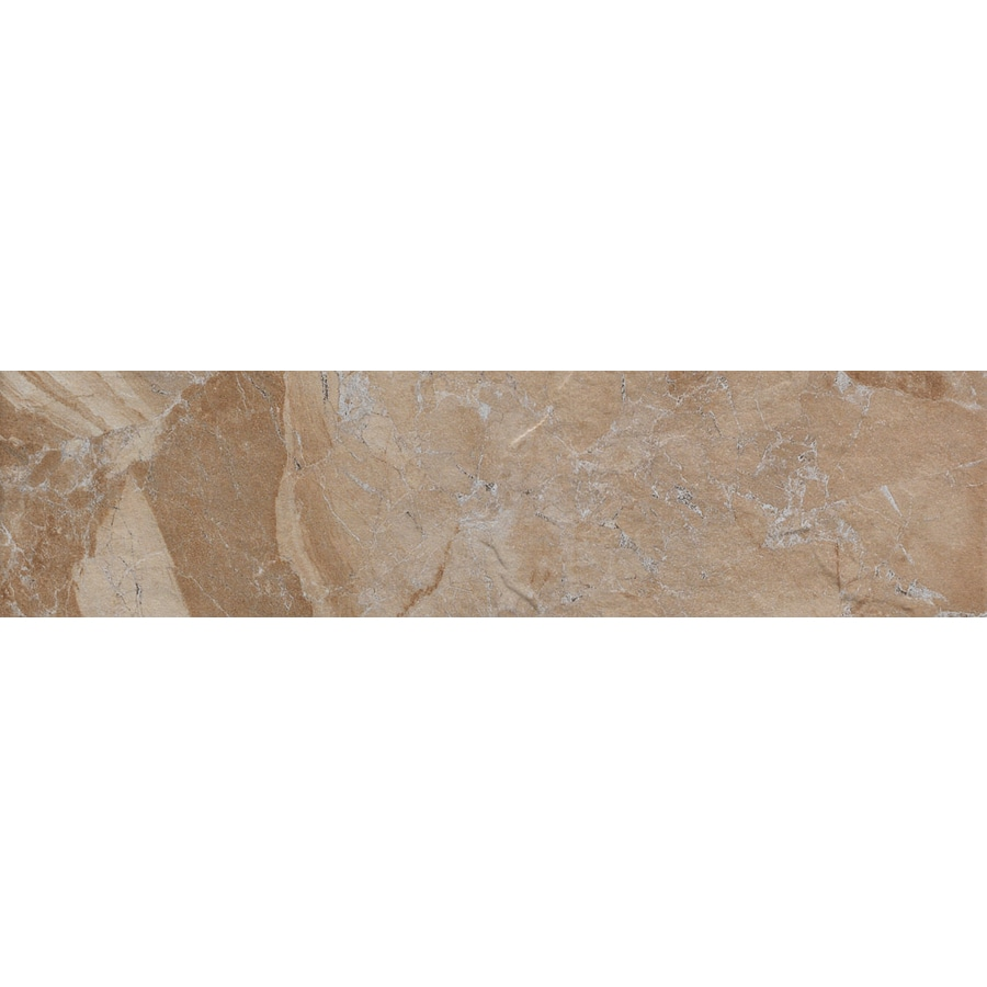 FLOORS 2000 Cortina Sand Porcelain Bullnose Tile (Common: 3-in x 12-in; Actual: 3-in x 11.87-in)