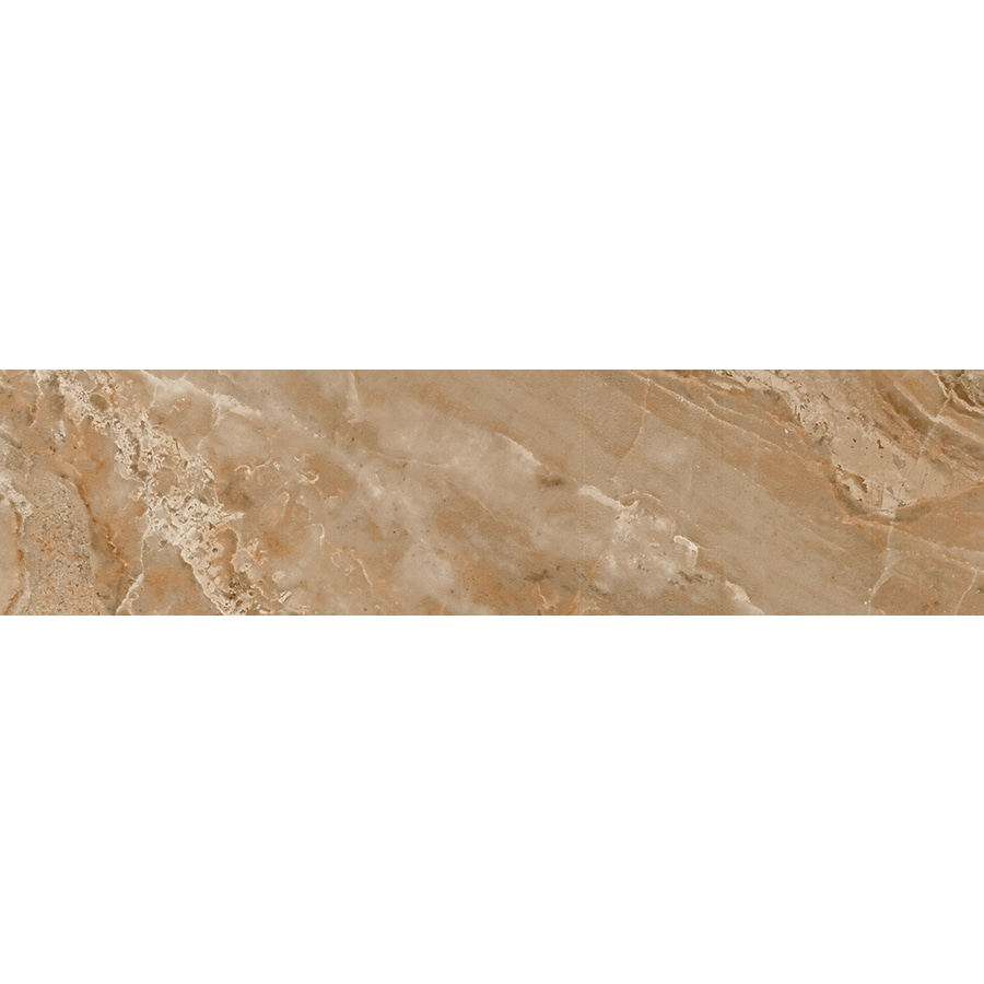 FLOORS 2000 Aura Matte Marron Porcelain Bullnose Tile (Common: 3-in x 12-in; Actual: 3-in x 11.81-in)