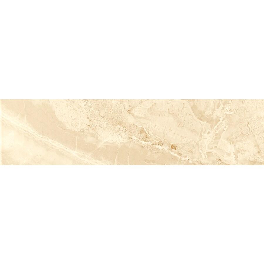 FLOORS 2000 Aura Matte Beige Porcelain Bullnose Tile (Common: 3-in x 18-in; Actual: 3-in x 17.73-in)
