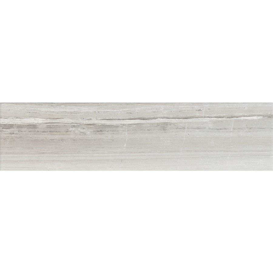 FLOORS 2000 Tiger Silver Wood Look Porcelain Bullnose Tile (Common: 3-in X 12-in; Actual: 11.85-in x 3-in)
