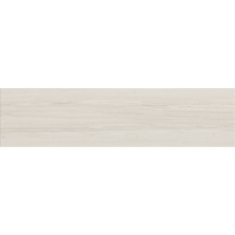 FLOORS 2000 Tiger Platinum Wood Look Porcelain Bullnose Tile (Common: 3-in X 12-in; Actual: 11.85-in x 3-in)