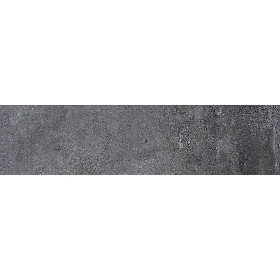 FLOORS 2000 Metropolitan Anthracite Porcelain Bullnose Tile (Common: 3-in X 12-in; Actual: 11.81-in x 3-in)