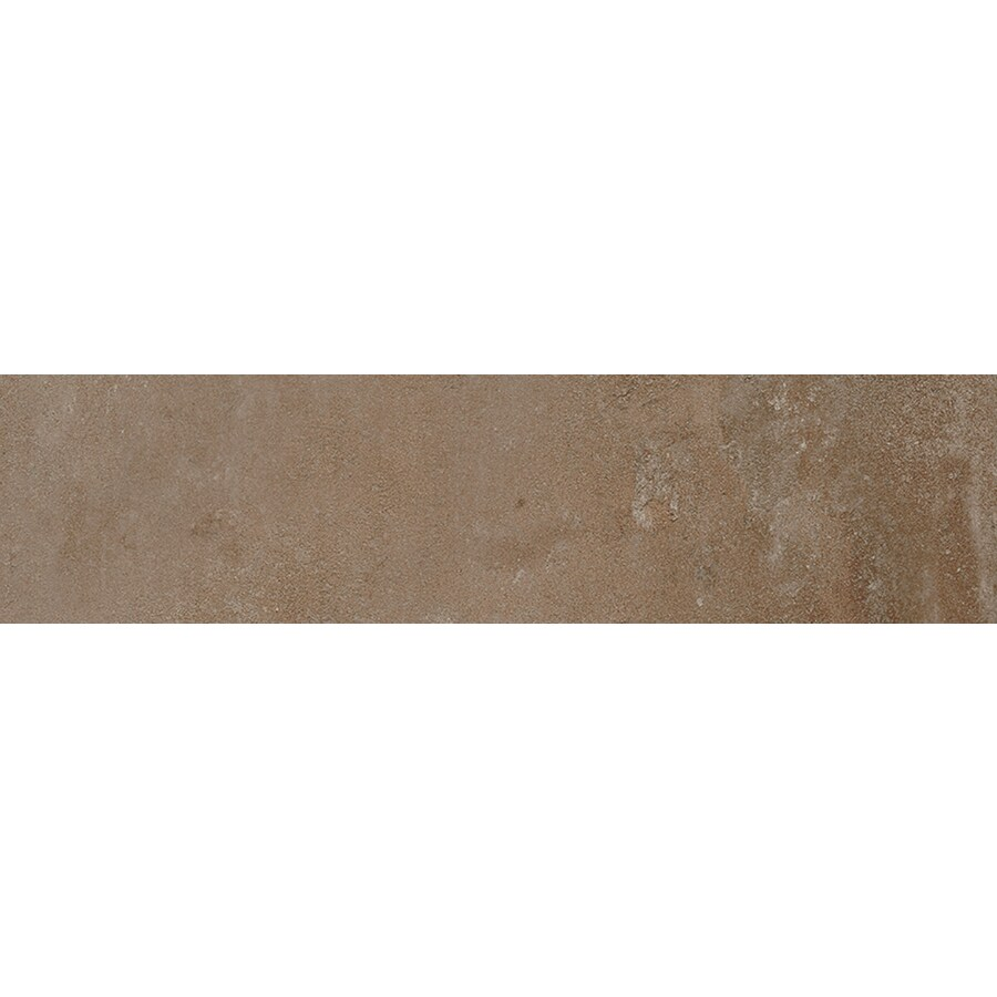 FLOORS 2000 Metropolitan Brown Porcelain Bullnose Tile (Common: 3-in X 18-in; Actual: 17.72-in x 3-in)