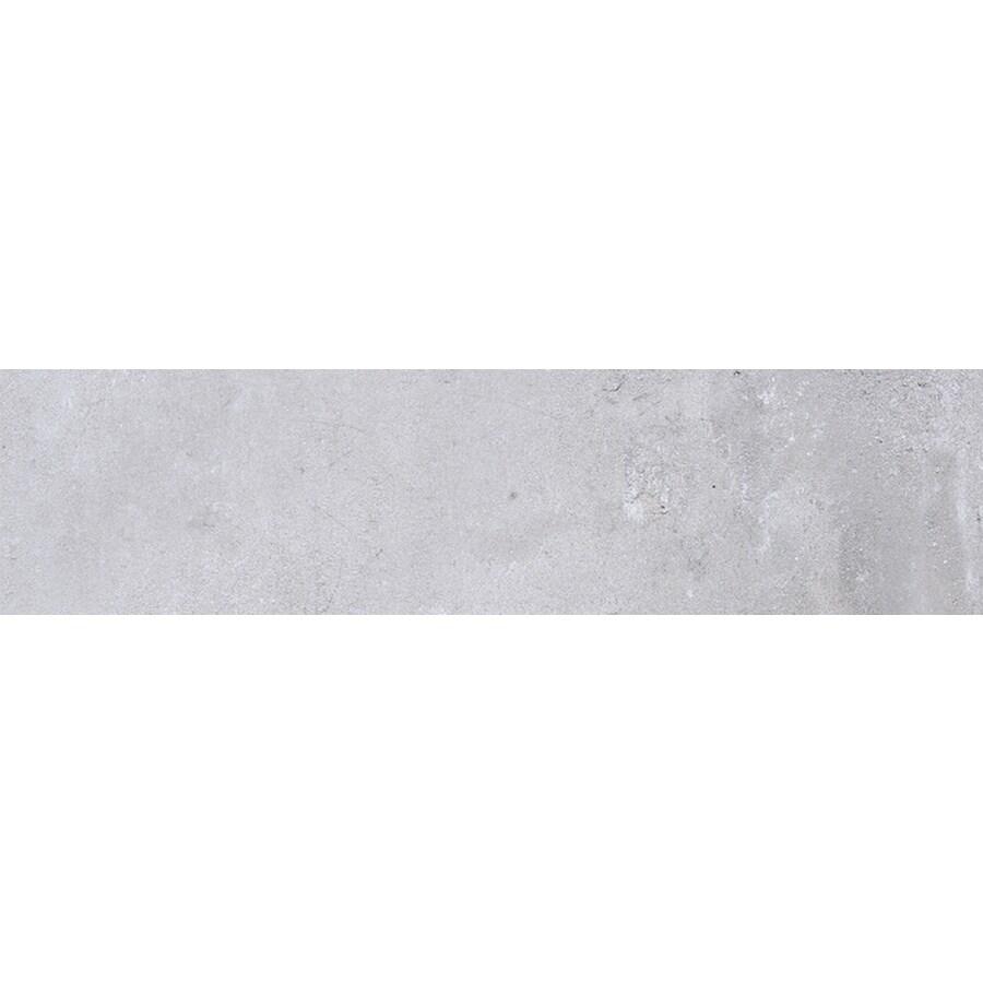 FLOORS 2000 Metropolitan Silver Porcelain Bullnose Tile (Common: 3-in X 18-in; Actual: 17.72-in x 3-in)