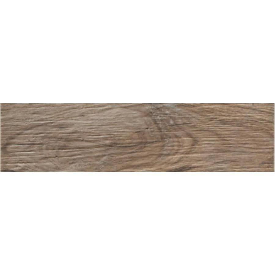 FLOORS 2000 Decking Brown Wood Look Porcelain Bullnose Tile (Common: 3-in X 13-in; Actual: 13.38-in x 3-in)