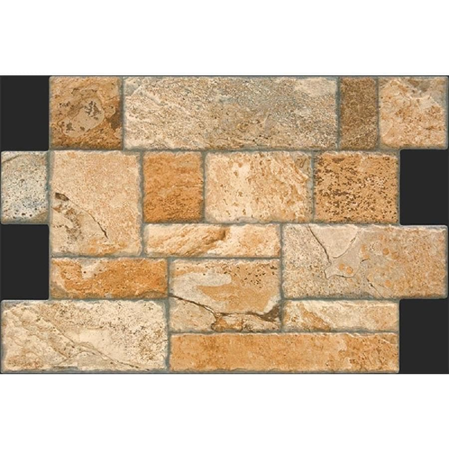 Shop FLOORS Fiyord Cotto Porcelain Tile Sample Common In X - Brick dye lowes
