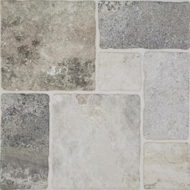 Style Selections Verona Gray 20-in x 20-in Glazed Porcelain Floor Tile