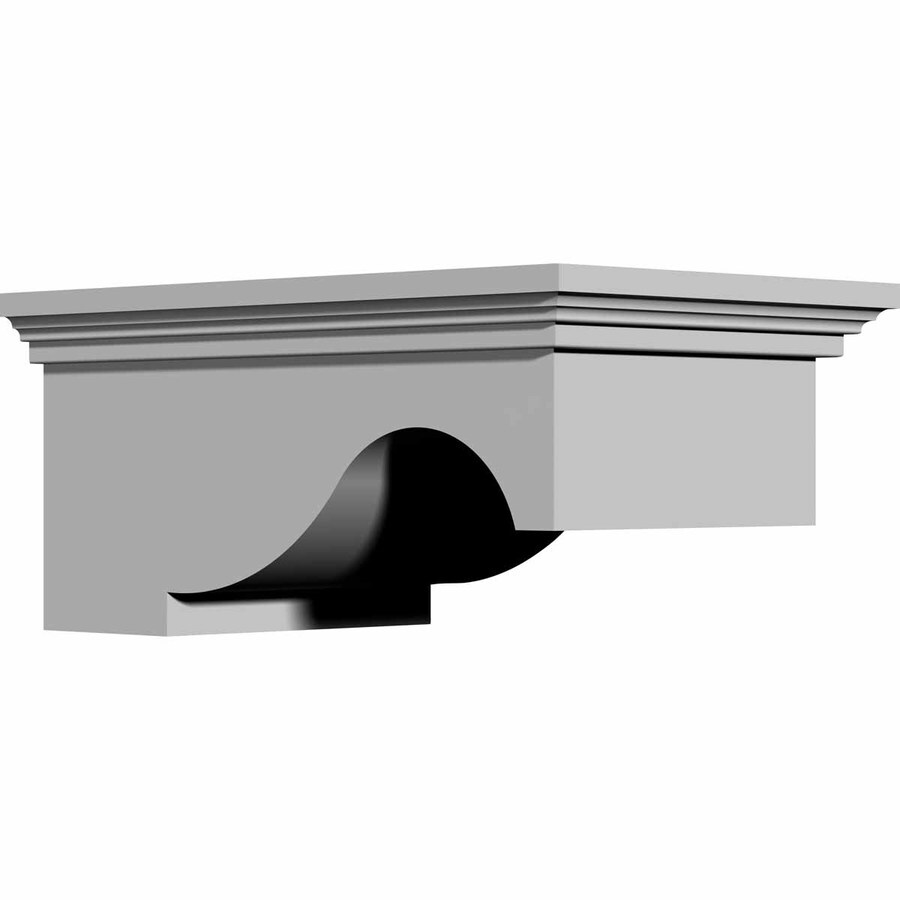 Ekena Millwork 7.75-in x 3.5-in Lunel Polyurethane Corbel