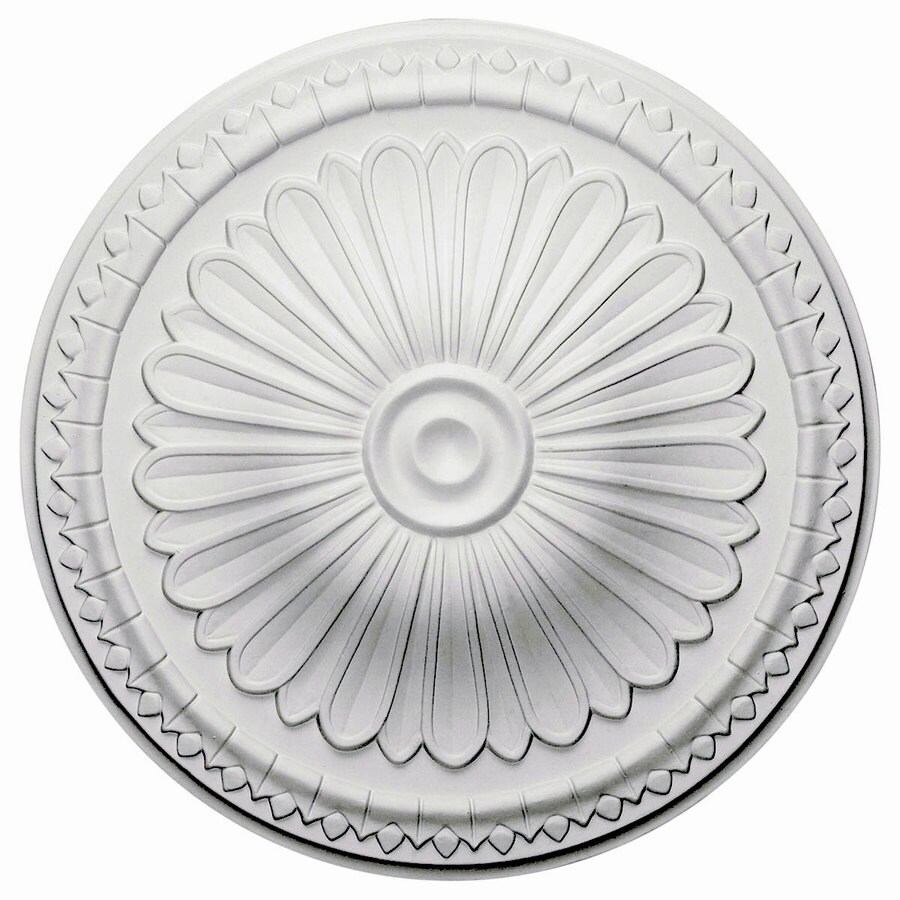 Shop ekena millwork alexa 15 in x 15 in polyurethane ceiling medallion at for Architectural medallions exterior