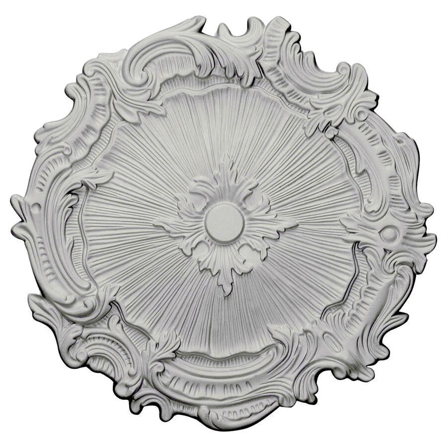 Ekena Millwork Plymouth 16.75-in x 16.75-in Polyurethane Ceiling Medallion