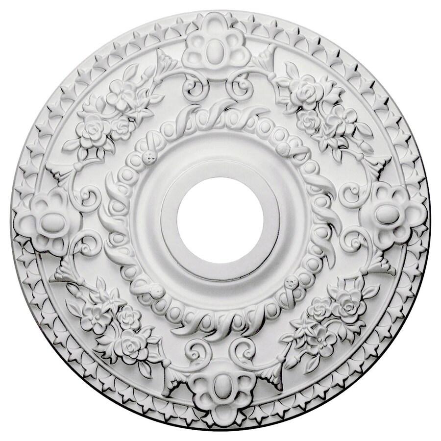 Ekena Millwork Rose 18-in x 18-in Polyurethane Ceiling Medallion