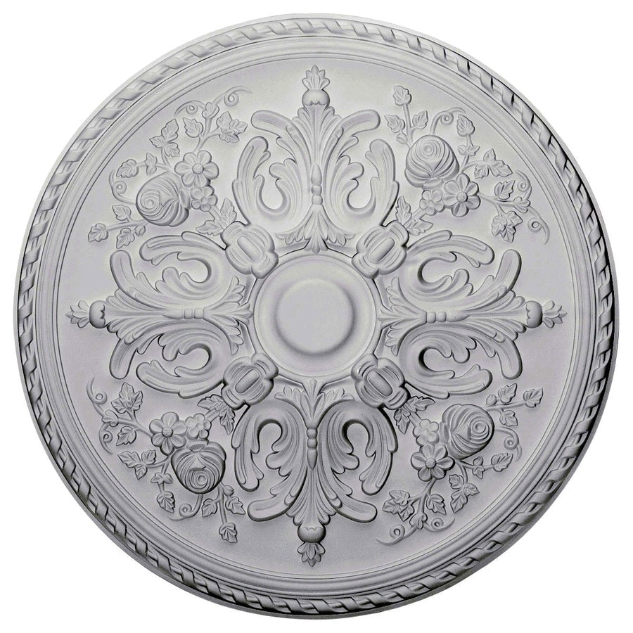 x pd palmetto polyurethane ekena shop millwork medallion in ceiling