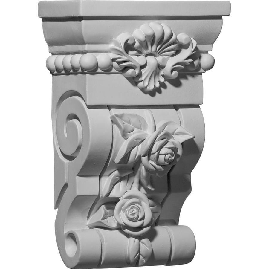 Ekena Millwork 6.5-in x 10.125-in Rose Polyurethane Corbel