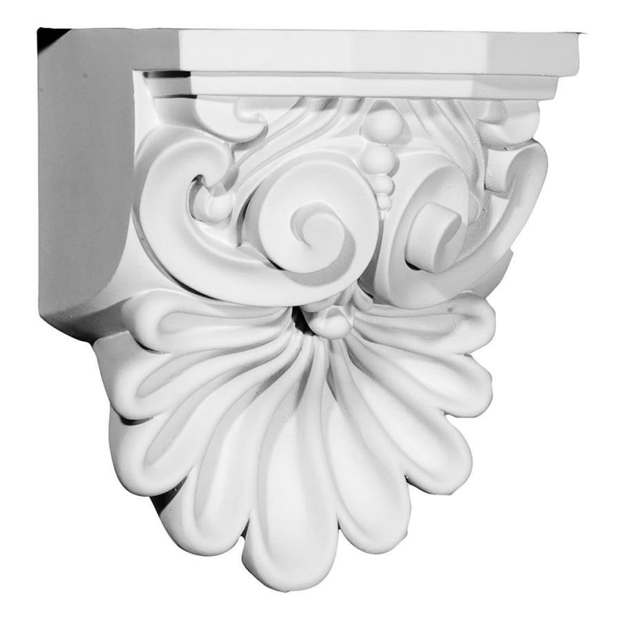 Ekena Millwork 6.375-in x 9-in Quentin Shell Polyurethane Corbel