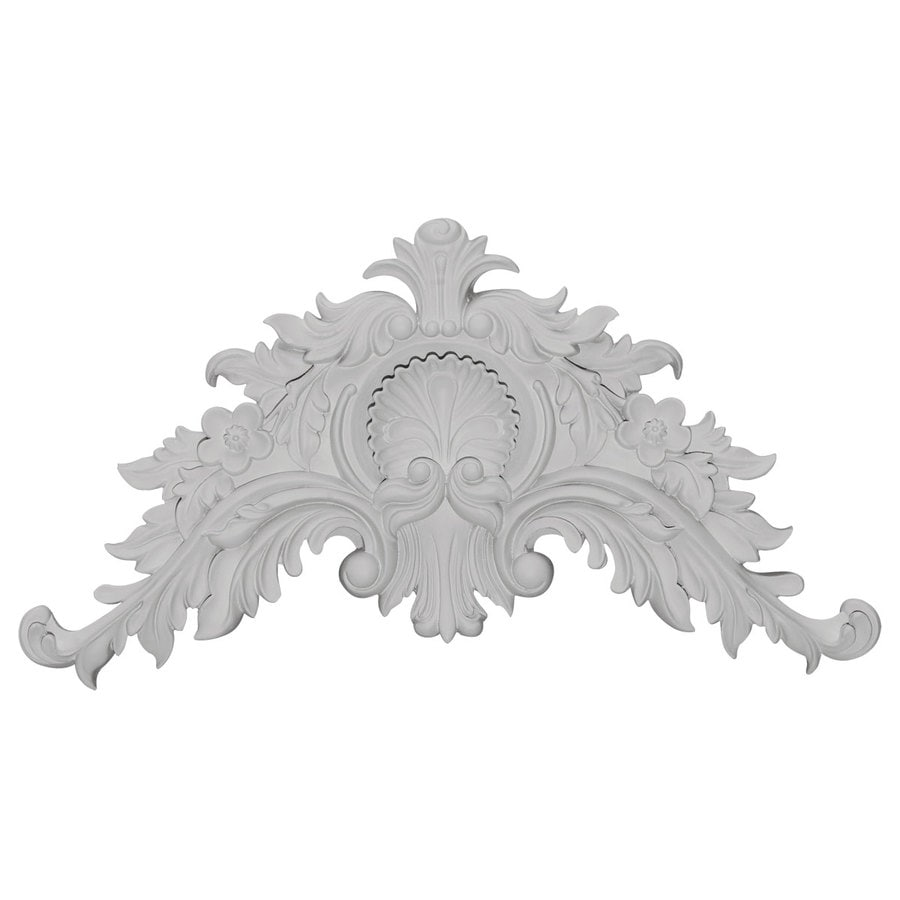 Ekena Millwork 16.25-in x 8.75-in Shell Primed Urethane Applique