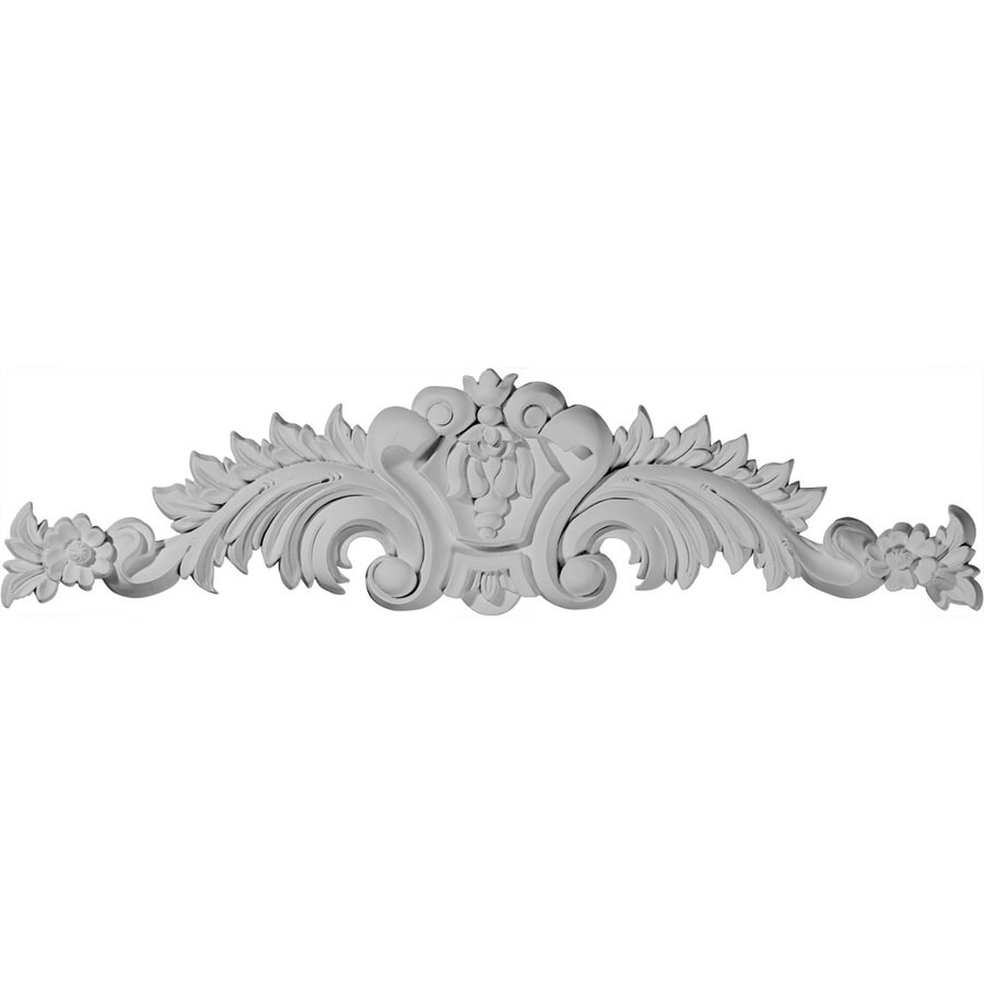 Ekena Millwork 23.125-in x 5.875-in Scroll Urethane Applique