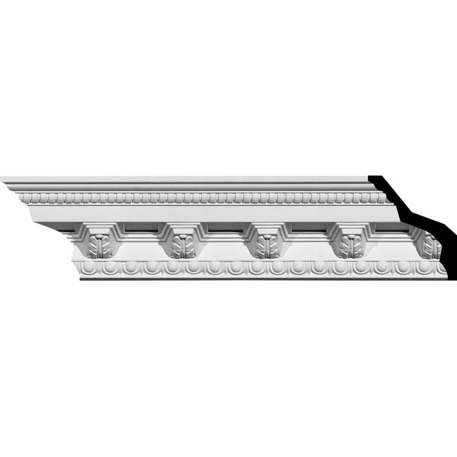 Ekena Millwork 3.875-in x 7.88-ft Primed Polyurethane Crown Moulding