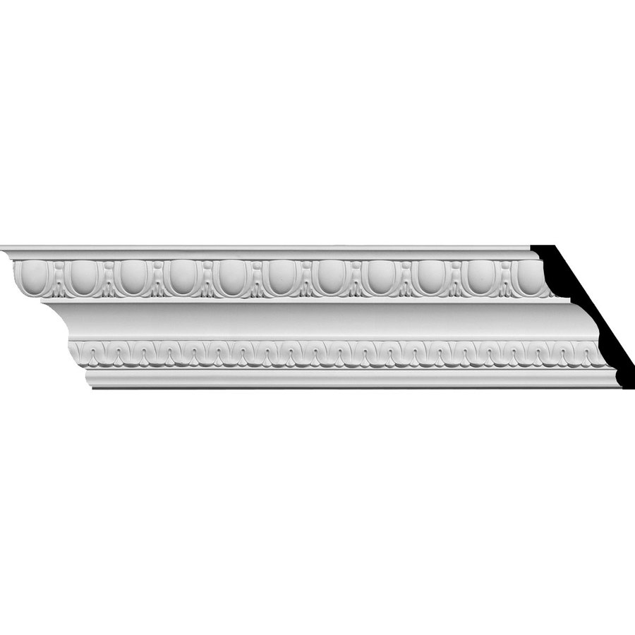 Ekena Millwork 4.875-in x 7.89-ft Polyurethane Bedford Crown Moulding